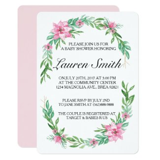 Magnolia Baby Shower Invitation