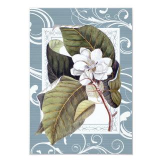 """Magnolia blanca meridional formal elegante RSVP Invitación 3.5"""" X 5"""""""