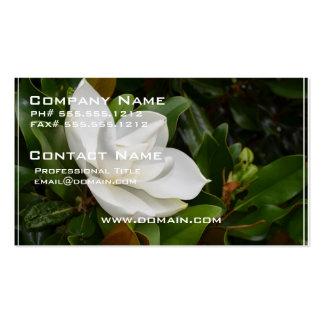 Magnolia blanca plantillas de tarjeta de negocio
