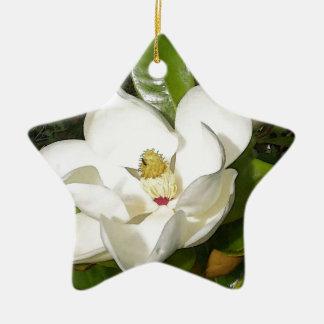 Magnolia Blossom Ceramic Ornament