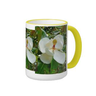 Magnolia Blossom Ringer Mug