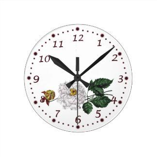 Magnolia Blossom Round Clock