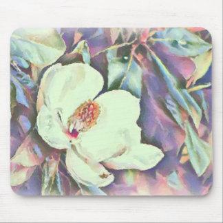 Magnolia Blossom Watercolor Digital Art Mousepad