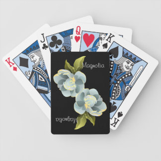 Magnolia Blossom with Leaves Personalized Card Deck
