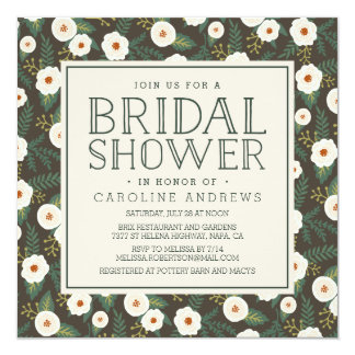 Magnolia Blossoms Bridal Shower Invitation