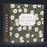 """Magnolia Blossoms Bridal Shower Recipe Binder<br><div class=""""desc"""">Collect recipes for the bride to be and organize them in this pretty floral binder with tons of personalization options! Charcoal gray-brown binder features a pattern of creamy white magnolia flowers flanked by lush dark green leaves. Customize the front with the bride to be&#39;s name and shower date, and add...</div>"""