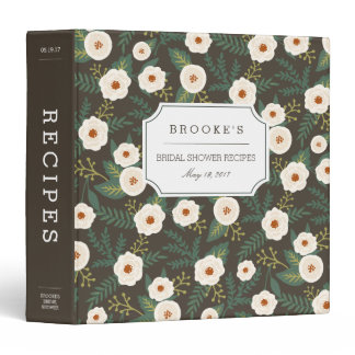 Magnolia Blossoms Bridal Shower Recipe Binder