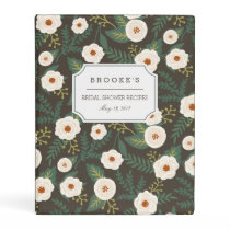 Magnolia Blossoms Bridal Shower Recipe Mini Binder