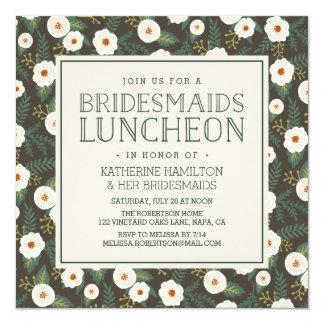 Magnolia Blossoms Bridesmaids Luncheon Invitation