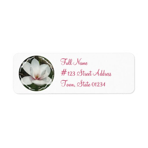 Magnolia Blossoms Mailing Labels