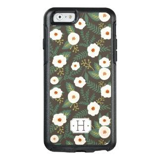 Magnolia Blossoms Monogram OtterBox iPhone 6/6s Case