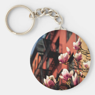 Magnolia Blossoms - New York City Keychain