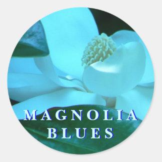 Magnolia Blues Classic Round Sticker