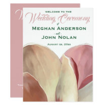 Magnolia Blush - Wedding Ceremony Card