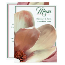Magnolia Blush - Wedding Menu Card