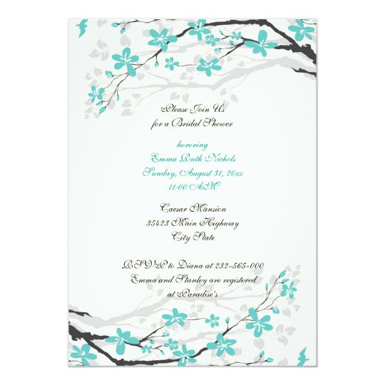 Magnolia branch turquoise bridal shower invitation zazzle magnolia branch turquoise bridal shower invitation filmwisefo