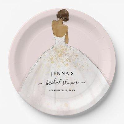Magnolia Bride Bridal Shower Paper Plate