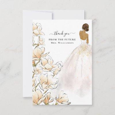Magnolia Bride Future Mrs Thank You Card