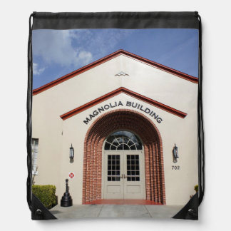 Magnolia Building Drawstring Bag