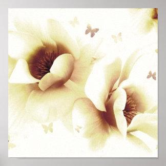 Magnolia - Cream Poster