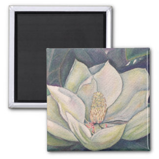 Magnolia de acero imán de nevera