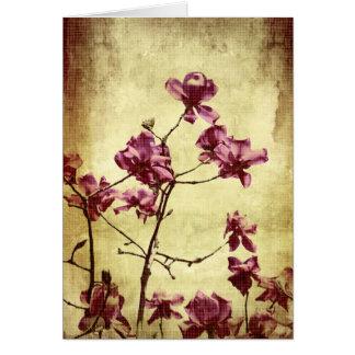 Magnolia de Beautifu en fondo del grunge Felicitaciones