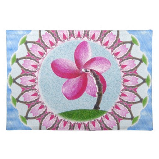 Magnolia de la mandala manteles individuales