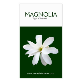 Magnolia de la vertical de dos tonos tarjetas de visita