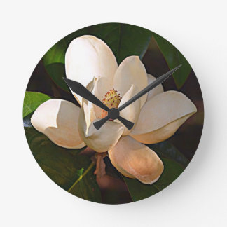 Magnolia de Luisiana Reloj Redondo Mediano
