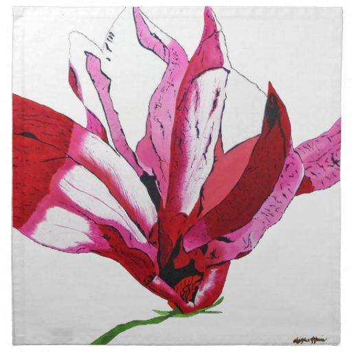 Magnolia de Susan Servilleta Imprimida