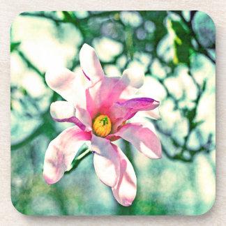 Magnolia de Tiffany Posavasos De Bebida