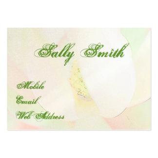 Magnolia design elegant large business card