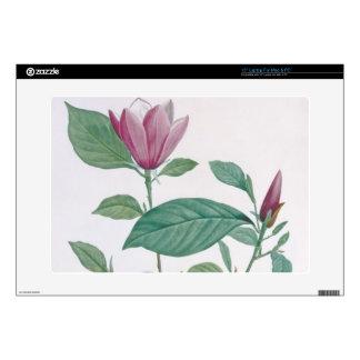 "Magnolia discolor, engraved by Legrand (colour lit 15"" Laptop Skin"