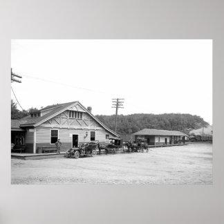 Magnolia, estación de tren de Massachusetts, 1906 Poster