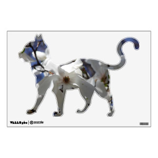 Magnolia Floral Cats Collection Wall Decal