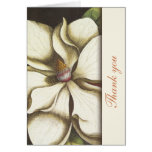 Magnolia Floral Thank You Notes Stationery Note Card
