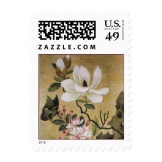 Magnolia Flower and Butterfly Ming Dynasty Stamps