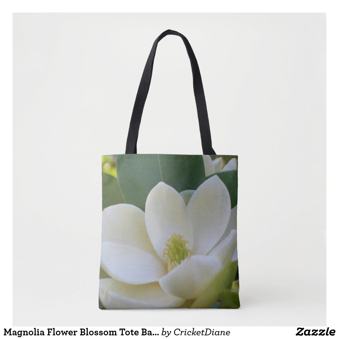 Magnolia Flower Blossom Tote Bag Gift for Her
