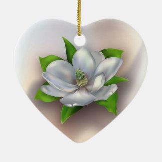 Magnolia Flower Ceramic Ornament