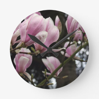 Magnolia Flower Round Wallclock