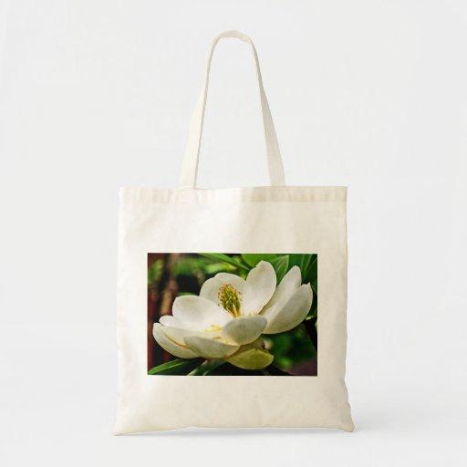 Magnolia Flower Close Up Budget Tote Bag