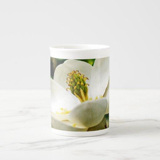 Magnolia Flower Close Up Tea Cup