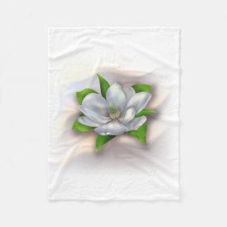 Magnolia Flower Fleece Blanket