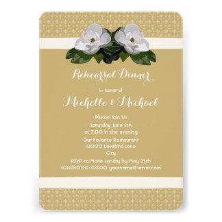 Magnolia Flower Fleur de Lis Wedding Custom Announcement