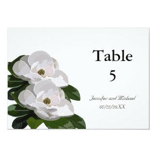 Magnolia Flower Modern Wedding Table Markers Card