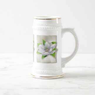 Magnolia Flower 18 Oz Beer Stein