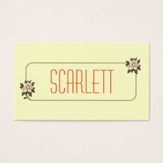 Magnolia Flower Personalized Business Cards