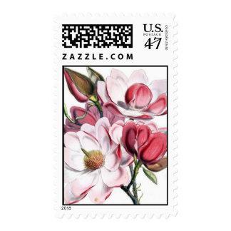Magnolia Flower Postage Stamp