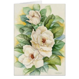 Magnolia Flower Watercolor Art - Multi Card