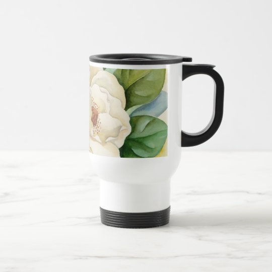 Magnolia Flower Watercolor Art - Multi Travel Mug